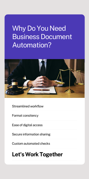 you need businss document automation